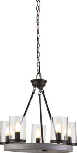 CANVAS Vittoria Wood & Glass Chandelier, 5-Light Product image