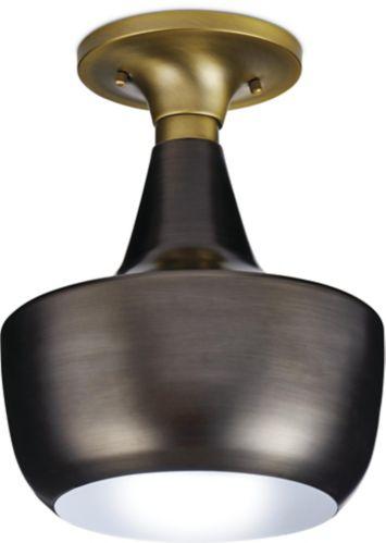CANVAS Kole Gold & Pewter Plated Semi-Flush Mount Light Fixture Product image