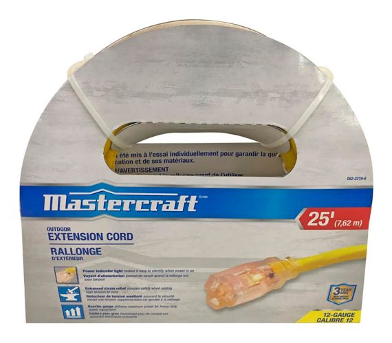 Mastercraft Contractor Grade Extension Cord, 12/3-gauge
