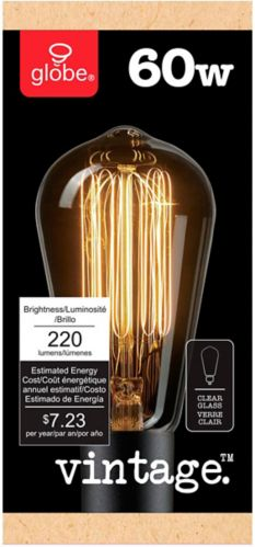Globe S-Type Vintage Dimmable Bulb, 60W Product image