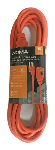 NOMA Single Outlet Weatherproof Locking Extension Cord