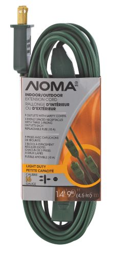 NOMA 9-Outlet Outdoor Power Extension Cord