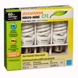 Ampoule fluocompacte Sylvania 13 W/60 W, blanc brillant, 3 | Sylvania | Canadian Tire