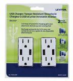 Leviton Combo USB Charging Receptacle, 2-ports, 2-pk | Leviton | Canadian Tire