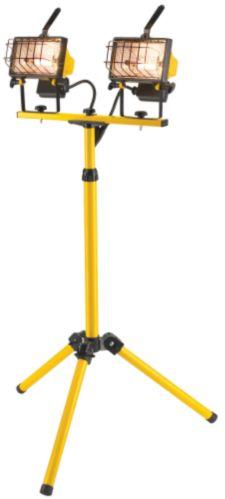 Baladeuse halogène sur trépied NOMA à 2 lampes de 500 W Image de l'article