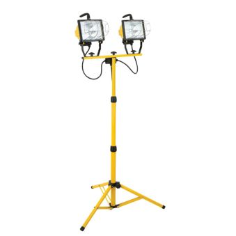 NOMA 1000W Twin Head Halogen Work Light on Tripod on