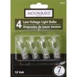 NOMA 7W Low Voltage Clear Wedge Bulb, 4-pk | Moonrays | Canadian Tire