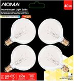 Sylvania 40W G16.5 Incandescent Globe Bulbs, Clear, 4-pk | NOMA | Canadian Tire