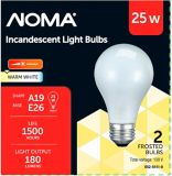 Sylvania 25W A15 Incandescent Bulbs, Soft White, 2-pk | NOMA | Canadian Tire