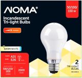 NOMA 50/100/150W Trilight Incandescent Bulbs, Soft White, 2-pk | NOMA | Canadian Tire