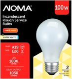 Sylvania 100W A19 Rough Service Incandescent Bulbs, 2-pk | Globe | Canadian Tire