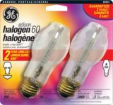 GE 60W Clear Halogen Bulbs, 2-pk | GE | Canadian Tire