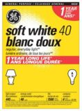GE 40W A19 Long Life Incandescent Bulbs, Soft White, 4-pk | GE | Canadian Tire