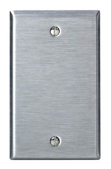 Leviton Blank Wall Plate, Stainless Steel, 1-gang | Canadian