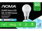 NOMA LED A19 60W Daylight Light Bulbs, 6-pk | NOMA | Canadian Tire