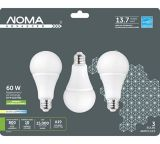 NOMA LED A19 60W Dimmable Daylight Bulb, 3-pk | NOMAnull