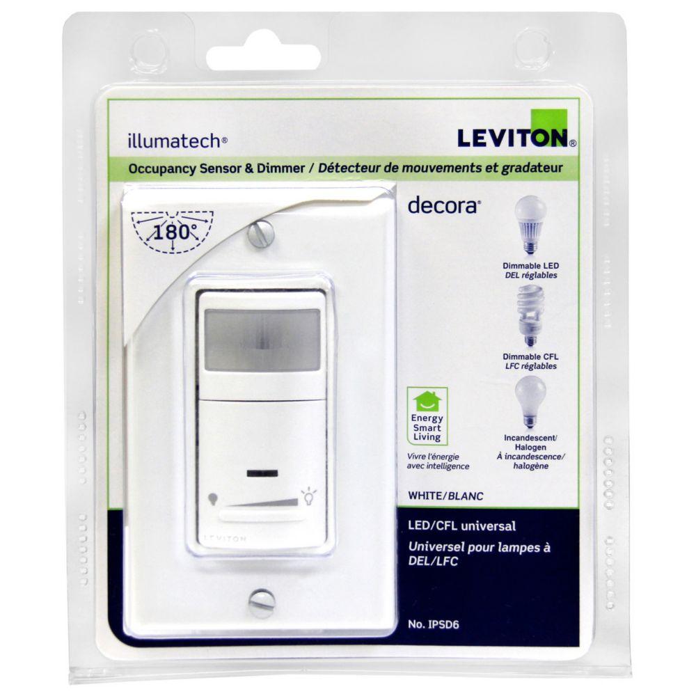 Leviton Universal Occupancy Sensor & Dimmer IPSD6