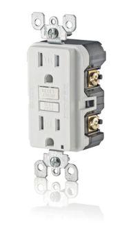 Leviton GFCI Smartlock PRO Light Receptacles, 3-pk