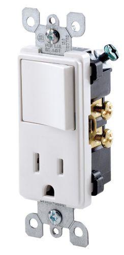 Leviton Decora Single-Pole / Receptacle Combination Switch, White