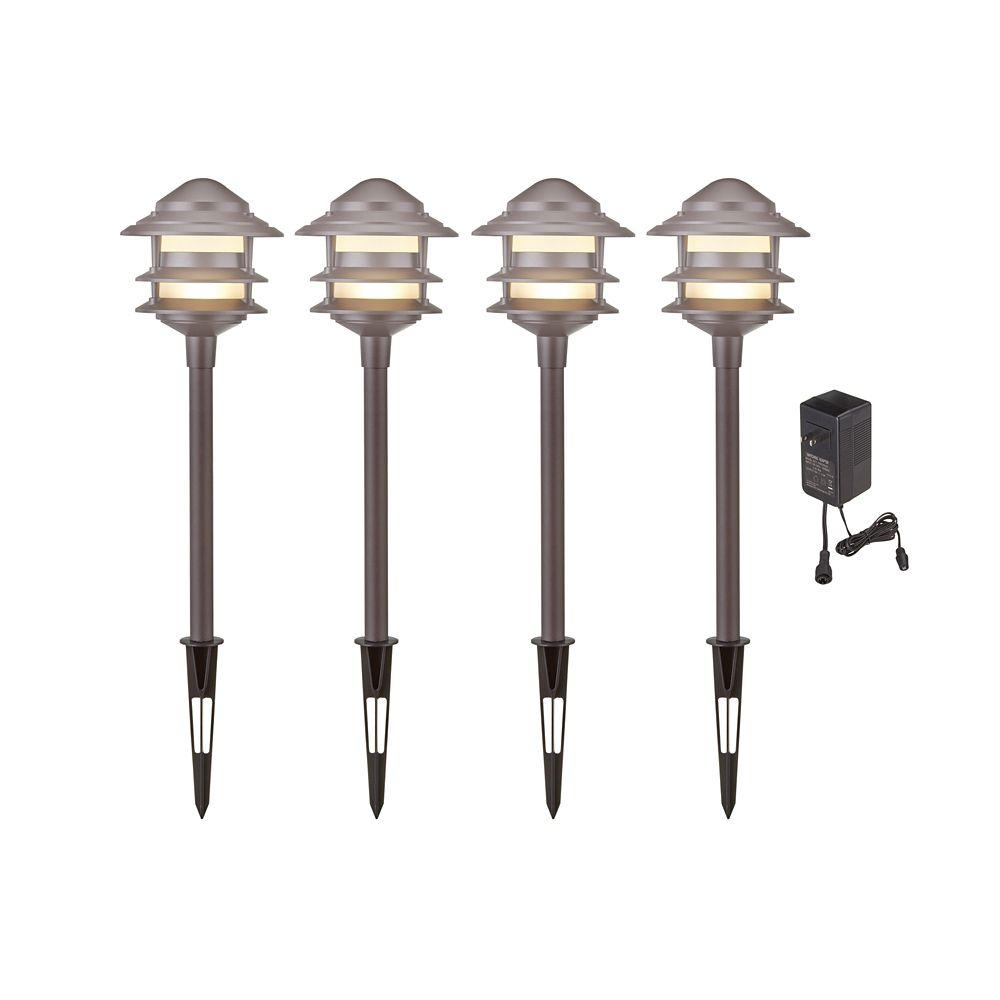 Noma Low Voltage Large LED Light Stake Kit, 4-pk