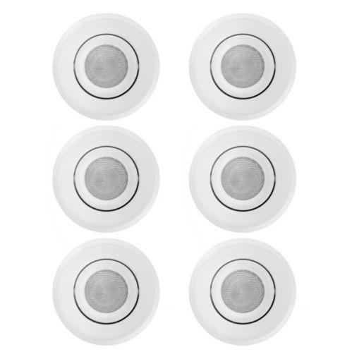 Luminaires encastrables de 5 po, blanc, paq. 6