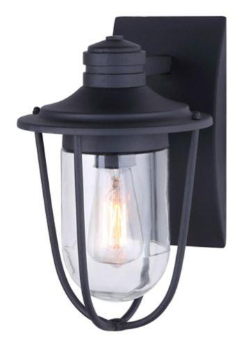 Noma 1 Light Outdoor Down Black, Noma Jam Jar Outdoor Lantern