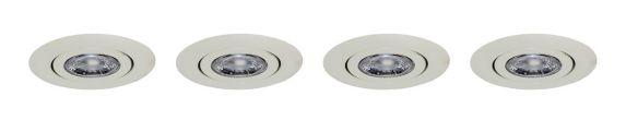 Nadair LED Recessed Lights, 3-in, 4-pk
