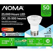 NOMA LED PAR16 50W Dimmable Light Bulb, 2-pk