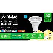 NOMA 50W GU10 LED Light Bulbs, Soft White, 2-pk