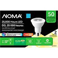 NOMA 50W PAR20 LED Light Bulbs, 2-pk