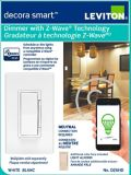 Leviton Decora Smart Dimmer with Z-Wave Plus Technology | Leviton | Canadian Tire