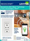 Leviton Decora Smart 15A Receptacle with Z-Wave Plus Technology | Leviton | Canadian Tire