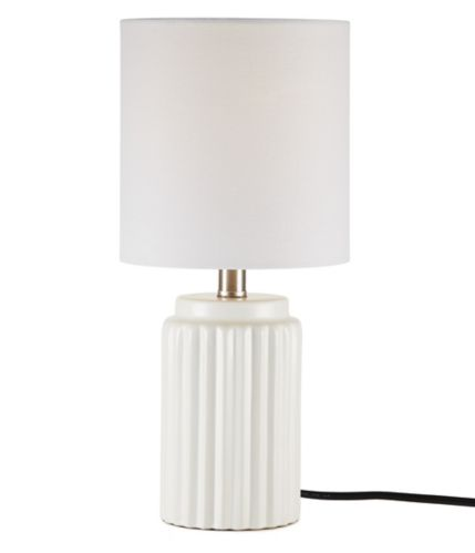 CANVAS Ceramic Table Lamp with Linen Shade, White Product image