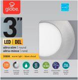 Globe Ultra-Slim Round LED Recessed Lighting Kit, Warm White, Brushed Nickel Trim, 3-in, Single | Globe | Canadian Tire