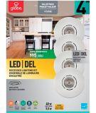 Globe Traditional Round LED Recessed Lighting Kit, Warm White, White Trim, 4-in, 4-pk | Globe | Canadian Tire