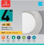 Globe Ultra-Slim Round LED Recessed Lighting Kit, Warm White, Brushed Nickel Trim, 4-in, Single | Globe | Canadian Tire