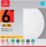 Globe Ultra-Slim Round LED Recessed Lighting Kit, Warm White, White Trim, 6-in, Single | Globe | Canadian Tire