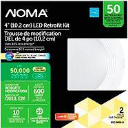 NOMA LED 50W Warm White Retrofit Kit, 4-in, 2-pk