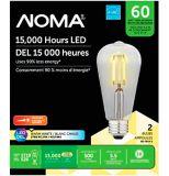 NOMA LED ST19 60W Dimmable Warm White Filament Light Bulb, 2-pk | NOMA | Canadian Tire