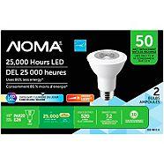 NOMA LED PAR20 50W Dimmable Daylight Light Bulb, 2-pk