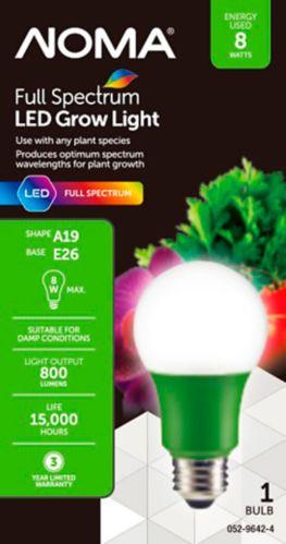 Noma Full Spectrum Led Grow Bulb A19, Full Spectrum Lamp