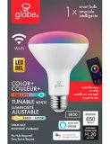 Globe Wi-Fi BR30 Dimmable LED Smart Bulb, Multi-Colour | Globe | Canadian Tire