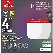Globe Smart Slim LED Recessed Lighting Kit, Complete Colour Control, 4-in