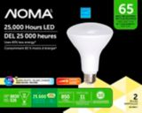 NOMA LED BR30 65W Dimmable Warm White Bulb, 2-pk | NOMA | Canadian Tire