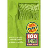 Amscan Plastic Spoons Big Party Pack, 100-pk
