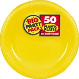 Amscan Plastic Plates Big Party Pack, 7-in, 50-pk