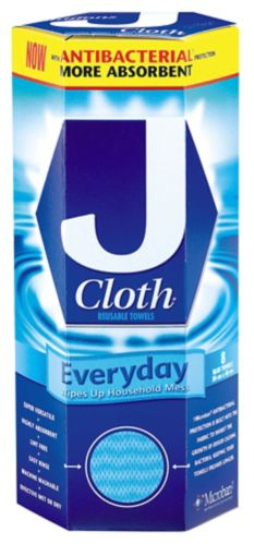 J-Cloth All Purpose Cleaning Cloths, 8-pk