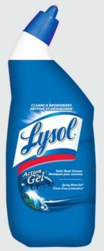 Nettoyant pour cuvette Lysol Action, Chute d'eau printanière