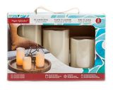 Wax Pillar Battery-Operated Candles, White, 3-pk   Inglow   Canadian Tire