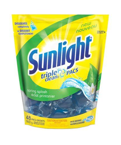 Sunlight Triple Clean Pacs Laundry Detergent Pods 48 Pk